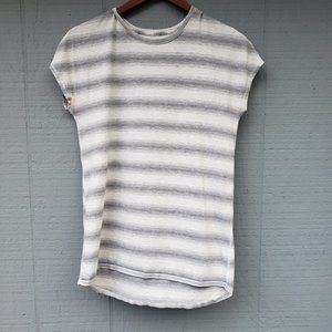 Lululemon Stripe Short Sleeve Workout Tee Cap